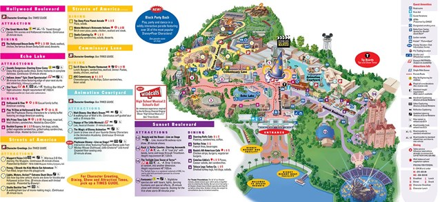 Walt Disney World Park and Resort Maps - Disney's Hollywood Studios map