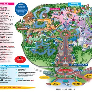 4 of 4: Walt Disney World Park and Resort Maps - Magic Kingdom map