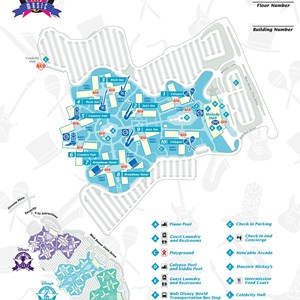 2 of 17: Walt Disney World Park and Resort Maps - Disney's All-Star Music Resort map