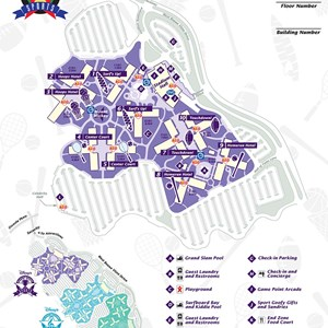 3 of 17: Walt Disney World Park and Resort Maps - Disney's All-Star Sports Resort map
