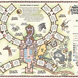4 of 17: Walt Disney World Park and Resort Maps - Disney's Animal Kingdom Lodge map