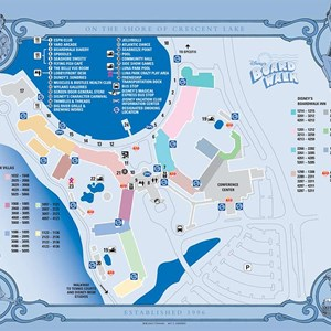 5 of 17: Walt Disney World Park and Resort Maps - Disney's BoardWalk Inn and Villas map