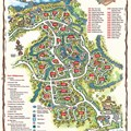 Walt Disney World Park and Resort Maps - Disney&#39;s Fort Wilderness Cabins and Campground map