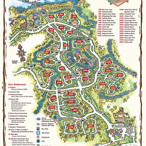 9 of 17: Walt Disney World Park and Resort Maps - Disney's Fort Wilderness Cabins and Campground map
