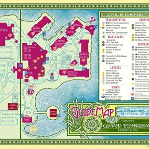 10 of 17: Walt Disney World Park and Resort Maps - Disney's Grand Floridian Resort & Spa map