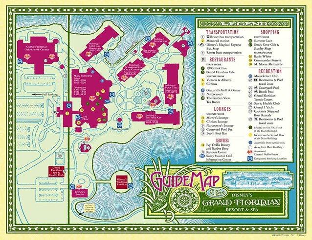 Walt Disney World Park and Resort Maps - Disney's Grand Floridian Resort & Spa map