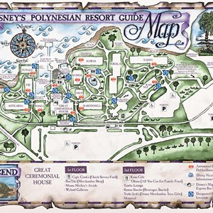 12 of 17: Walt Disney World Park and Resort Maps - Disney's Polynesian Resort map