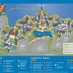13 of 17: Walt Disney World Park and Resort Maps - Disney's Pop Century Resort - Classic Years map