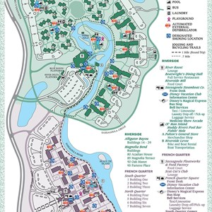 14 of 17: Walt Disney World Park and Resort Maps - Disney's Port Orleans Resort map