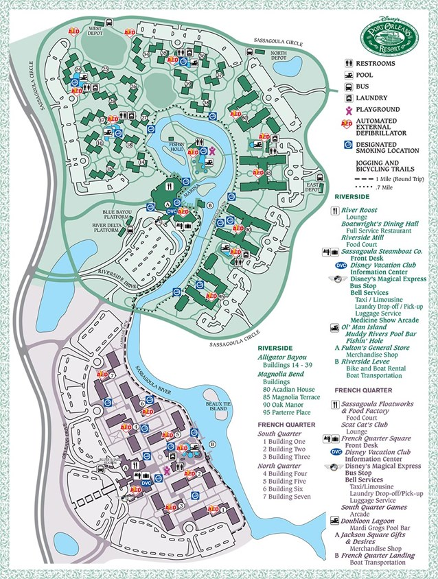 Walt Disney World Park and Resort Maps - Disney's Port Orleans Resort map