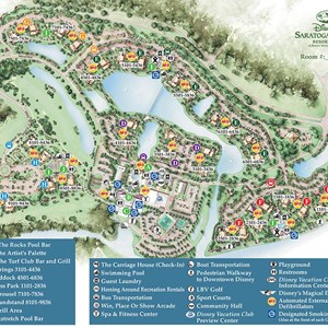 15 of 17: Walt Disney World Park and Resort Maps - Disney's Saratoga Springs Resort & Spa map