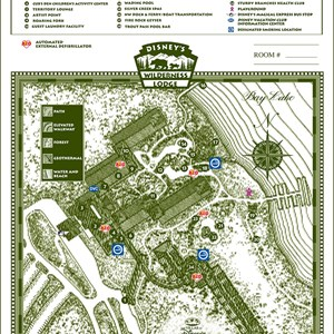 16 of 17: Walt Disney World Park and Resort Maps - Disney's Wilderness Lodge and Villas map