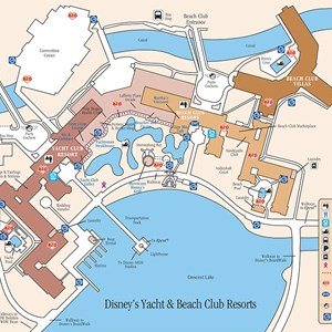 17 of 17: Walt Disney World Park and Resort Maps - Disney's Yacht Club Resort and Disney's Beach Club Resort map