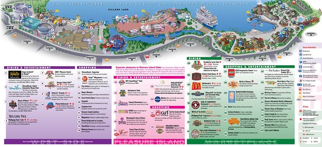 Walt Disney World Park and Resort Maps - Downtown Disney map