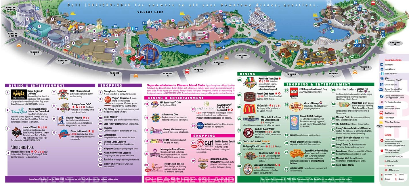 Downtown Disney Maps 2008