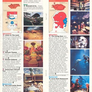 3 of 12: Walt Disney World Park and Resort Maps - Epcot Center Guide Book 1986