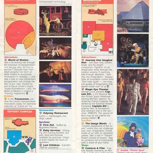 10 of 12: Walt Disney World Park and Resort Maps - Epcot Center Guide Book 1986