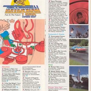 11 of 12: Walt Disney World Park and Resort Maps - Epcot Center Guide Book 1986