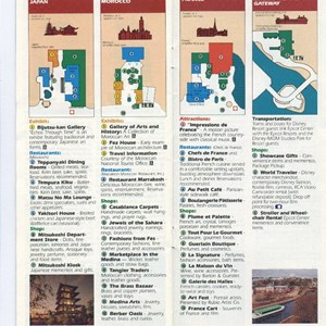 3 of 15: Walt Disney World Park and Resort Maps - Epcot Center Guide Book 1990