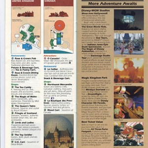 4 of 15: Walt Disney World Park and Resort Maps - Epcot Center Guide Book 1990