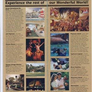 5 of 15: Walt Disney World Park and Resort Maps - Epcot Center Guide Book 1990