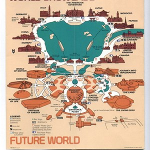 8 of 15: Walt Disney World Park and Resort Maps - Epcot Center Guide Book 1990