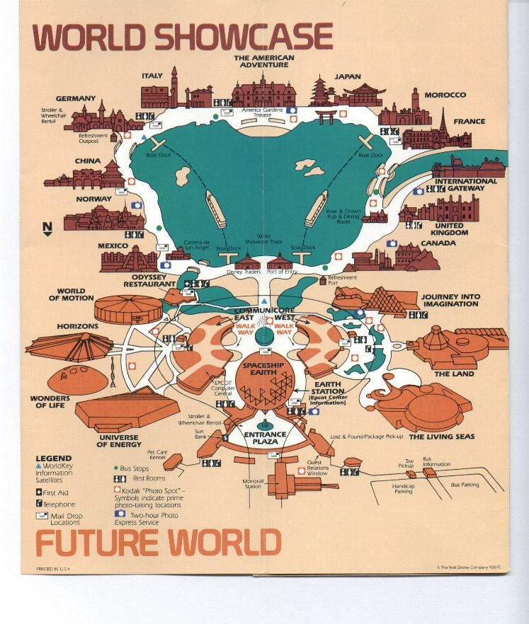 Epcot Center Guide Book 1990