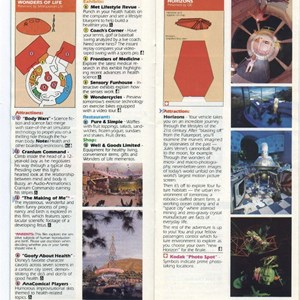 12 of 15: Walt Disney World Park and Resort Maps - Epcot Center Guide Book 1990