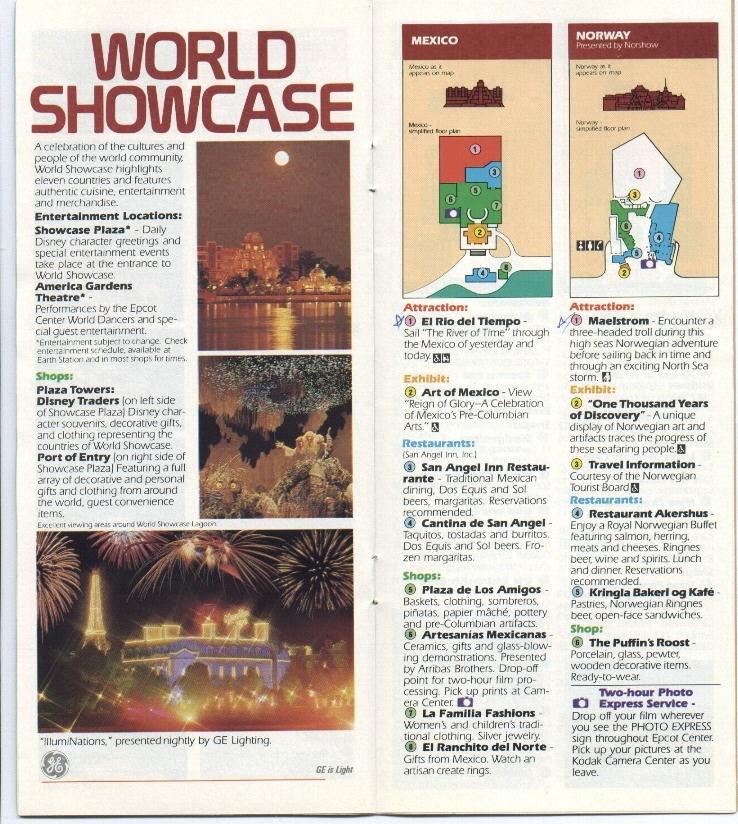 Epcot Center Guide Book 1990