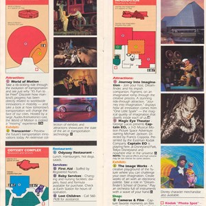 3 of 14: Walt Disney World Park and Resort Maps - Epcot Center Entertainment Guide 1989