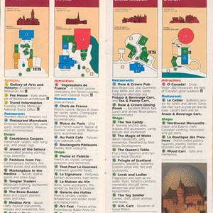 7 of 14: Walt Disney World Park and Resort Maps - Epcot Center Entertainment Guide 1989