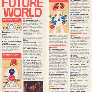 13 of 14: Walt Disney World Park and Resort Maps - Epcot Center Entertainment Guide 1989