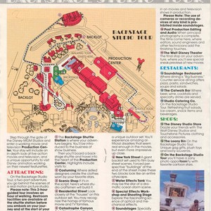 3 of 13: Walt Disney World Park and Resort Maps - Disney-MGM Studios Guide Book 1989