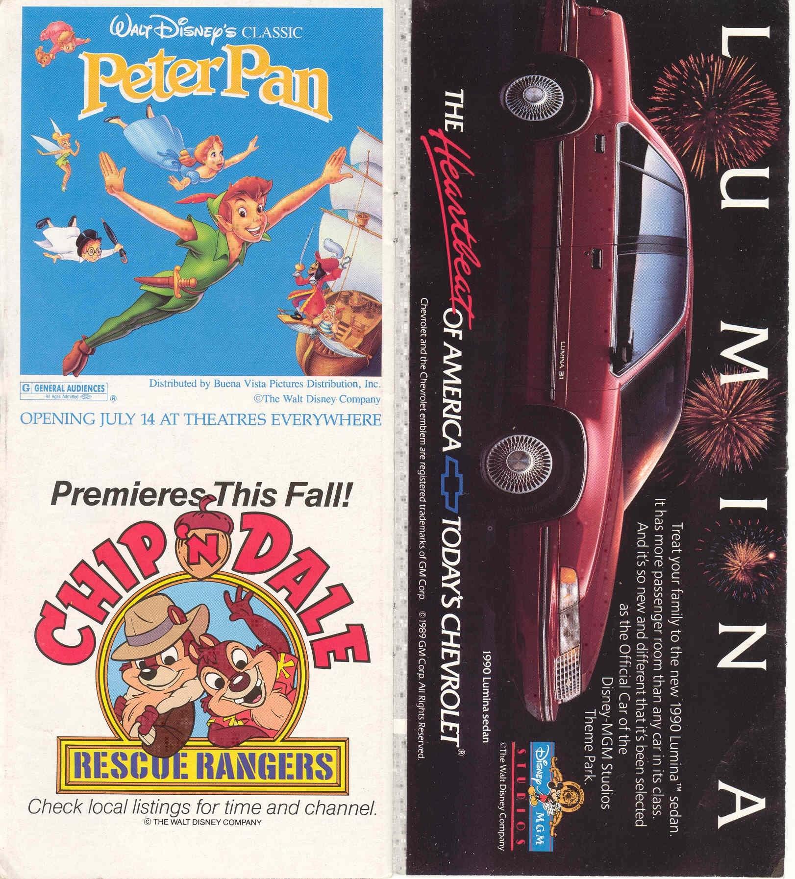 Disney-MGM Studios Guide Book 1989
