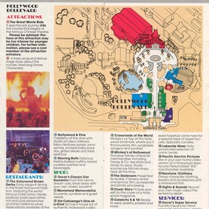 11 of 13: Walt Disney World Park and Resort Maps - Disney-MGM Studios Guide Book 1989