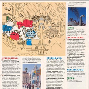12 of 13: Walt Disney World Park and Resort Maps - Disney-MGM Studios Guide Book 1989