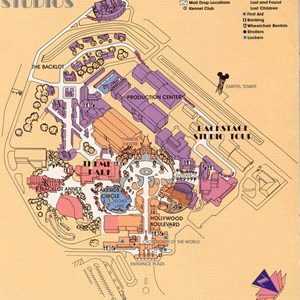 13 of 13: Walt Disney World Park and Resort Maps - Disney-MGM Studios Guide Book 1989