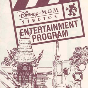 2 of 4: Walt Disney World Park and Resort Maps - Disney-MGM Studios Entertainment Guide Book 1989