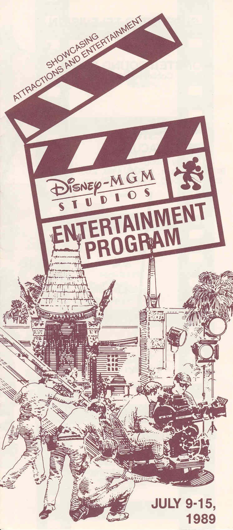 Disney-MGM Studios Entertainment Guide Book 1989