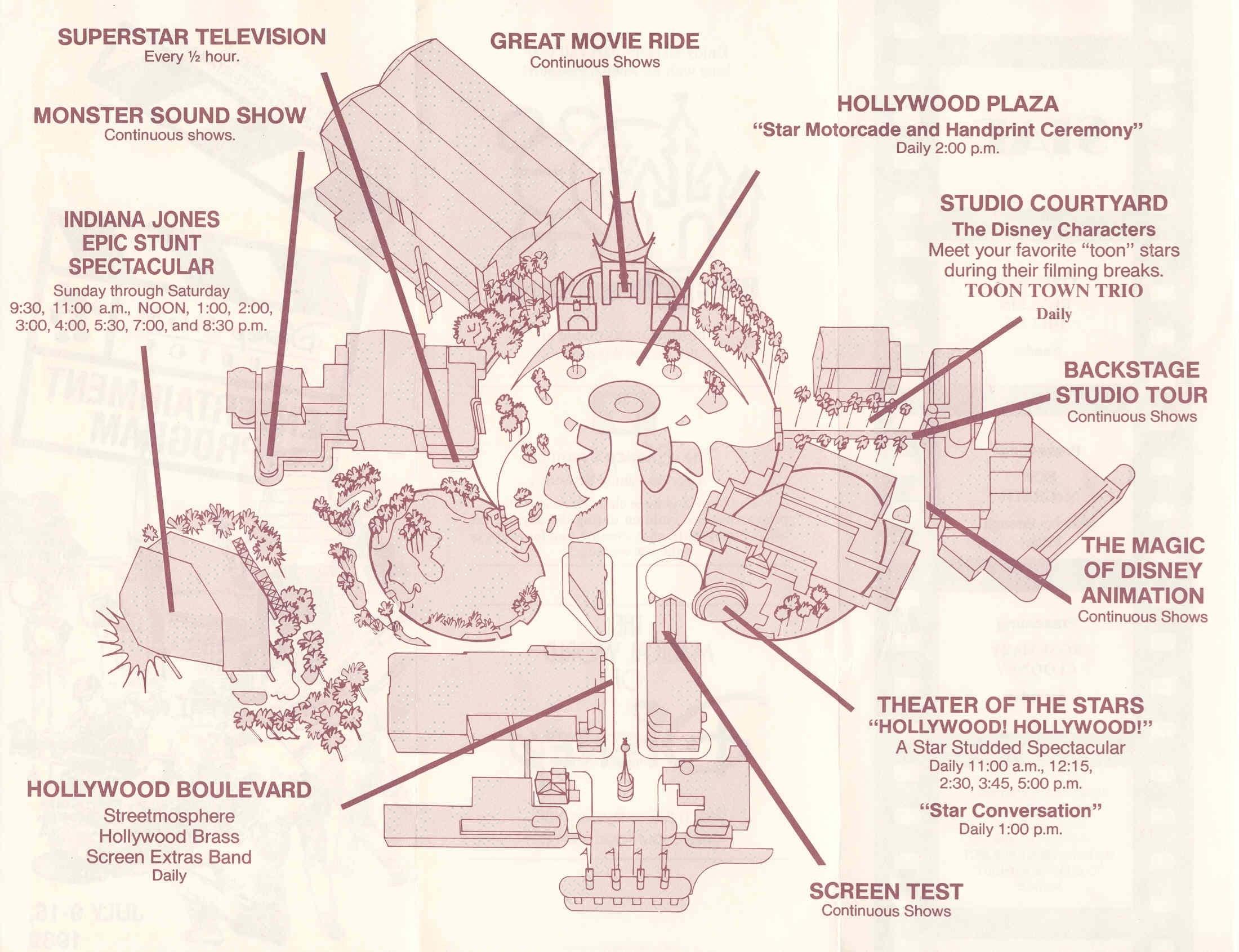Disney-MGM Studios Entertainment Guide Book 1989