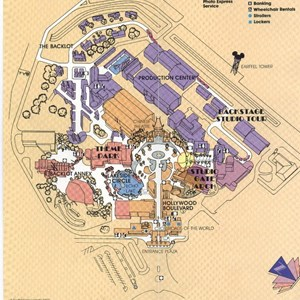 3 of 10: Walt Disney World Park and Resort Maps - Disney-MGM Studios Guide Book 1990