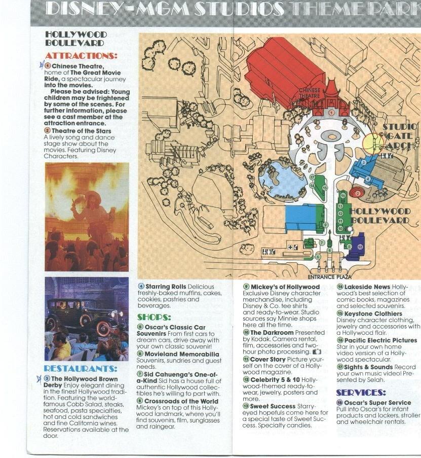 Disney-MGM Studios Guide Book 1990