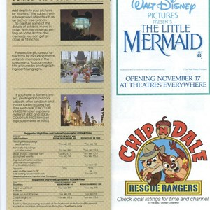 10 of 10: Walt Disney World Park and Resort Maps - Disney-MGM Studios Guide Book 1990