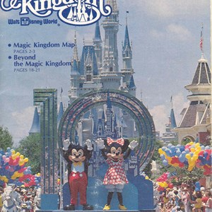 2 of 13: Walt Disney World Park and Resort Maps - Magic Kingdom Guide Book 1982