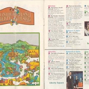 3 of 13: Walt Disney World Park and Resort Maps - Magic Kingdom Guide Book 1982