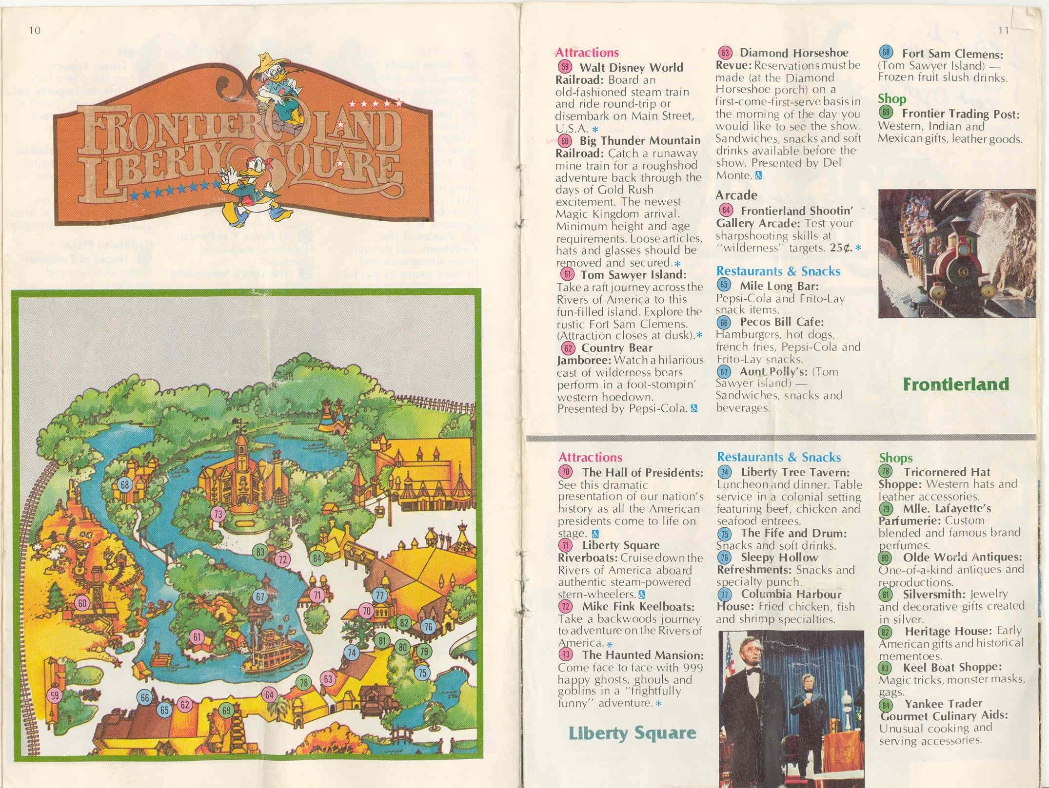 Magic Kingdom Guide Book 1982