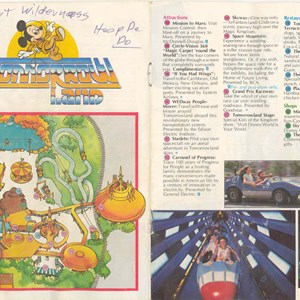5 of 13: Walt Disney World Park and Resort Maps - Magic Kingdom Guide Book 1982