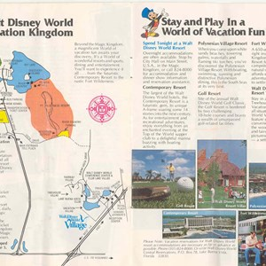 7 of 13: Walt Disney World Park and Resort Maps - Magic Kingdom Guide Book 1982