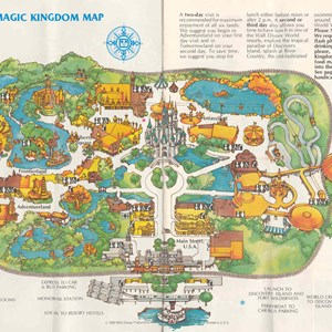 8 of 13: Walt Disney World Park and Resort Maps - Magic Kingdom Guide Book 1982