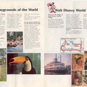 9 of 13: Walt Disney World Park and Resort Maps - Magic Kingdom Guide Book 1982